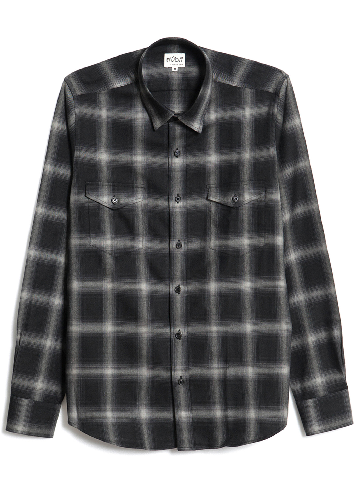 Black Square Flannel - Shirts